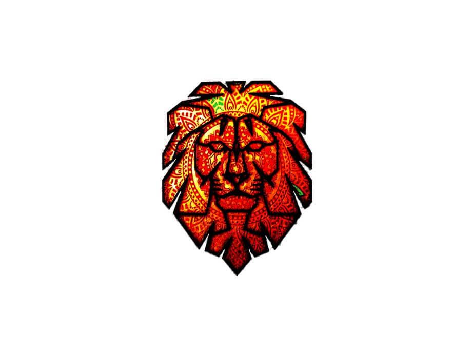 Clickly Marketing graphic design lion logo